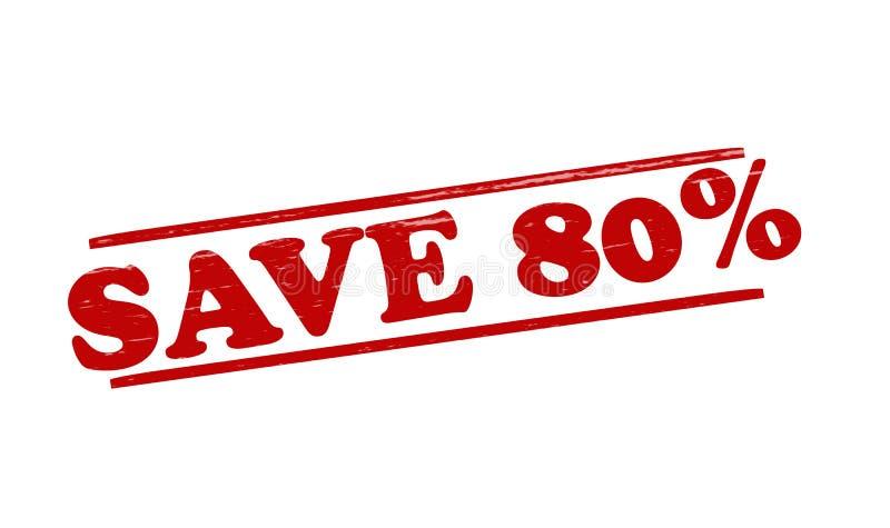 Save. Stamp with word save inside, illustration stock illustration
