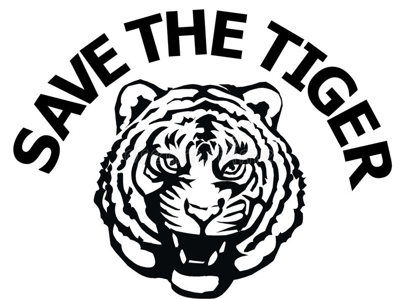 Save the tiger royalty free illustration