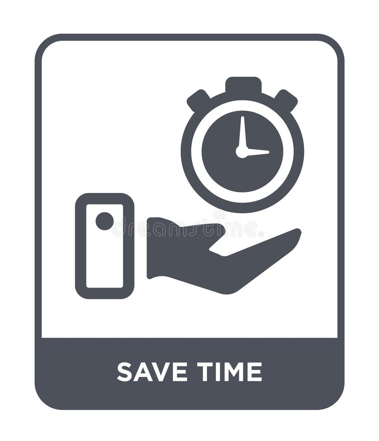 save time icon in trendy design style. save time icon isolated on white background. save time vector icon simple and modern flat vector illustration