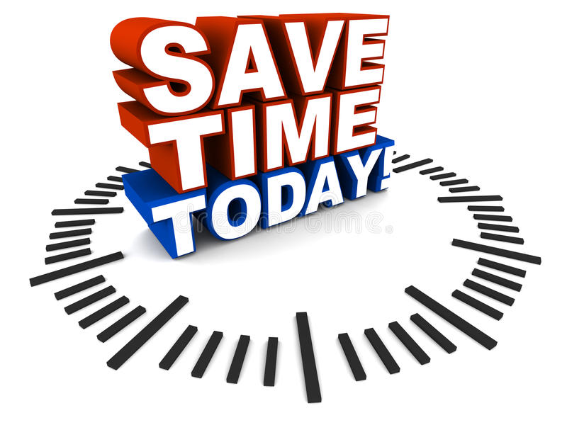 Save time today royalty free illustration