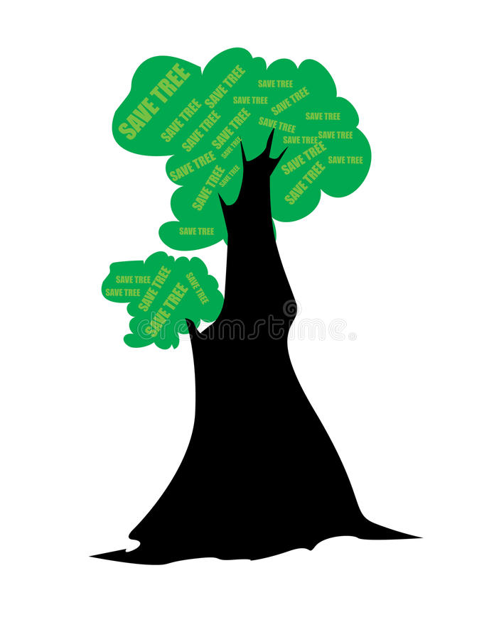 Download Save tree stock vector. Illustration of guaranty, assiduity - 9872514
