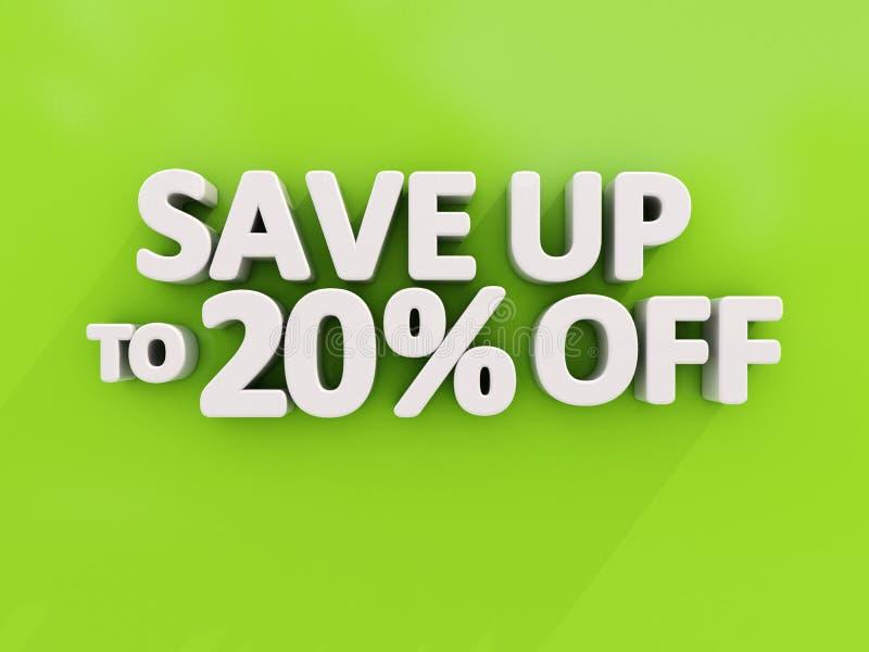 Save up stock illustration