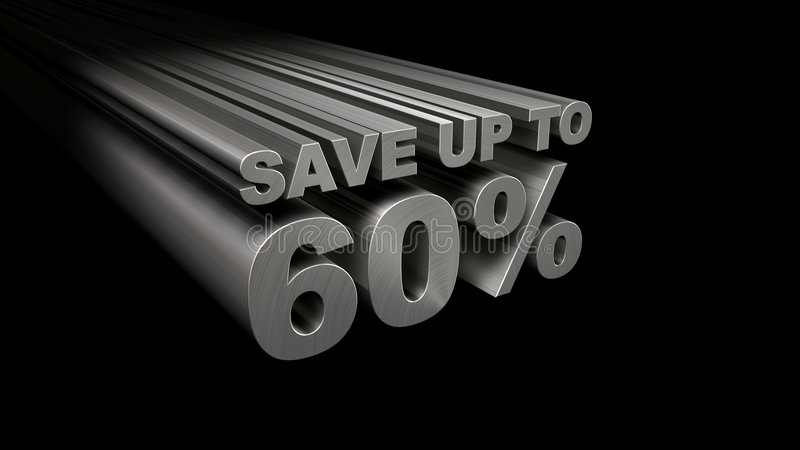 SAVE UP TO 60  TOP VIEW Stock Photos