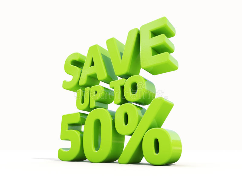 Save up to 50% stock illustration