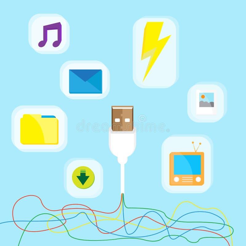 Download Save USB ilustracja wektor. Ilustracja złożonej z officemates - 28974453