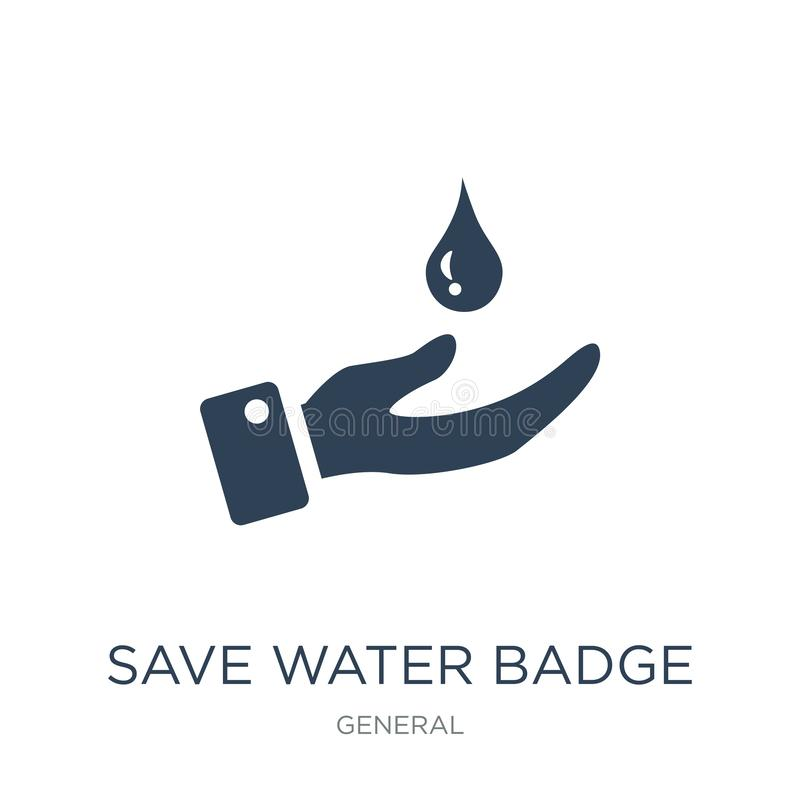 save water badge icon in trendy design style. save water badge icon isolated on white background. save water badge vector icon vector illustration