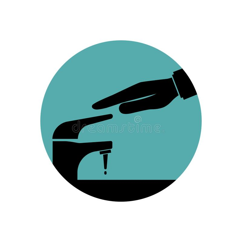 Save water black icon stock illustration