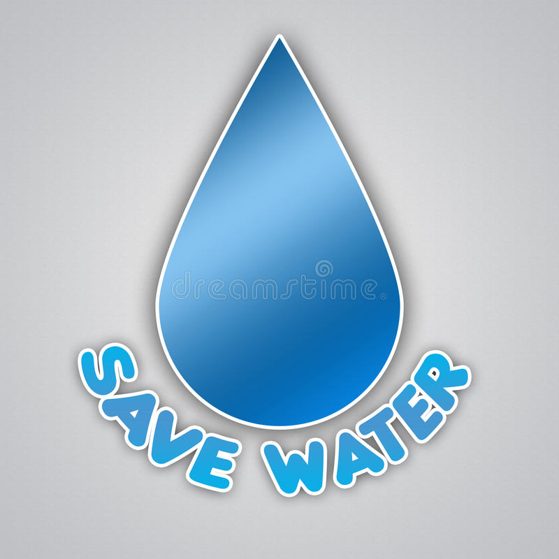 Save Water Campaign Stock Illustration
