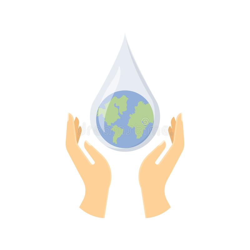 Save water concept. vector illustration