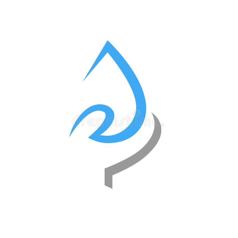 Save water concept symbol, icon on white royalty free illustration