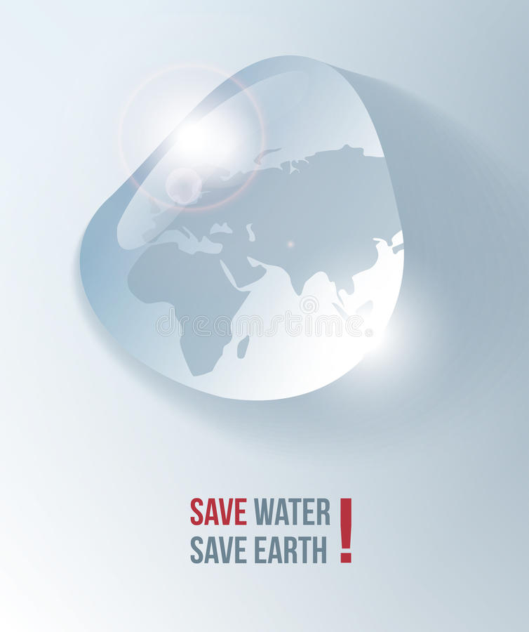 Save water flyer royalty free illustration