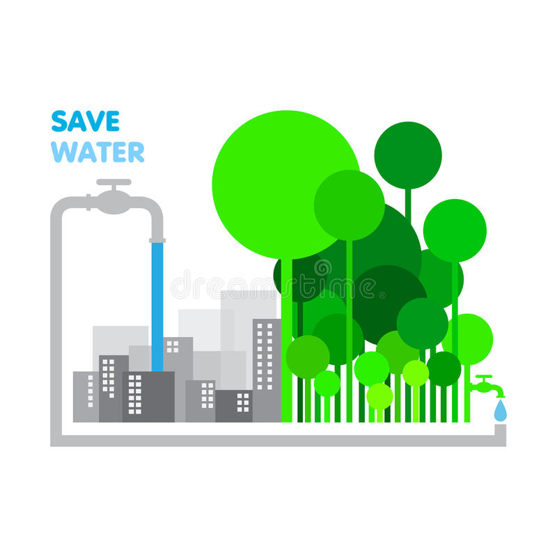 Save water stock image