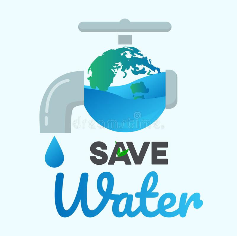 Save Water Graphic Design Vector Or Background Greeting Card Or ...