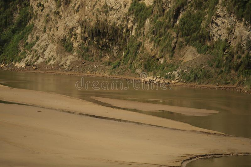 Save water save river The river has been dying at an alarming rate. View of a dying river.The river has been dying at an alarming rate due to the pollution royalty free stock photos