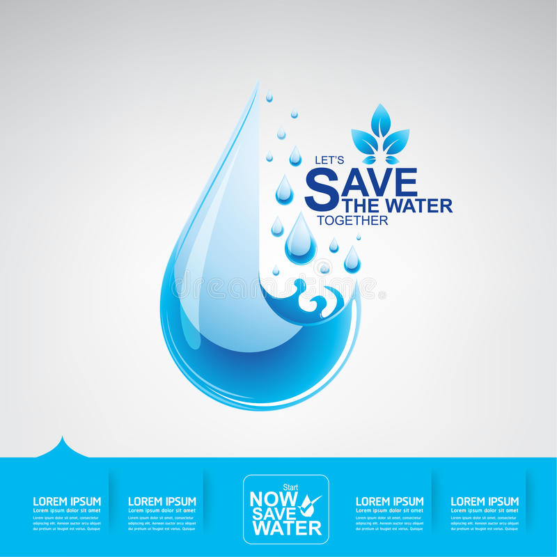 Save Water Vector vector illustration
