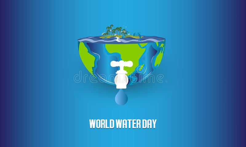 Save water. World Water Day concept. Vector illustration. - Vector. Save water. World Water Day concept. Vector illustration vector illustration