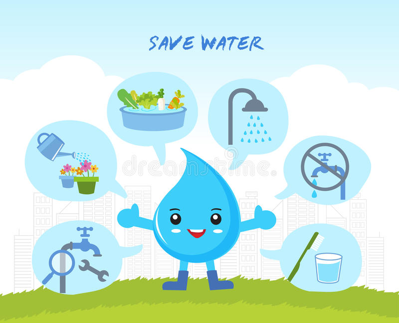 Save wodę, infographic royalty ilustracja