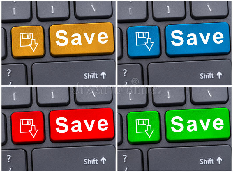 Save word on black keyboard royalty free stock photos