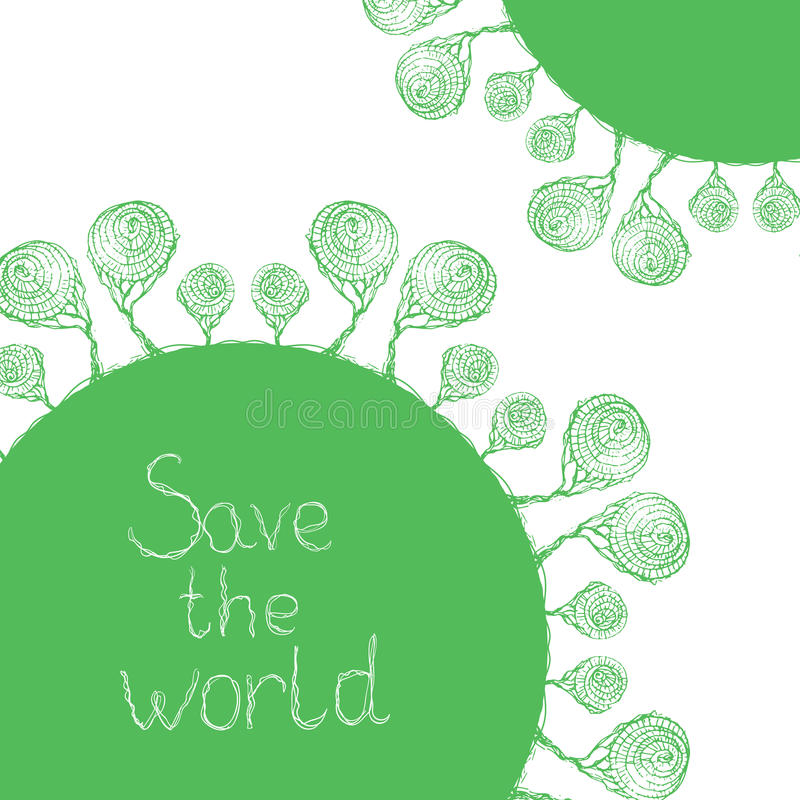 Save the world vector illustration