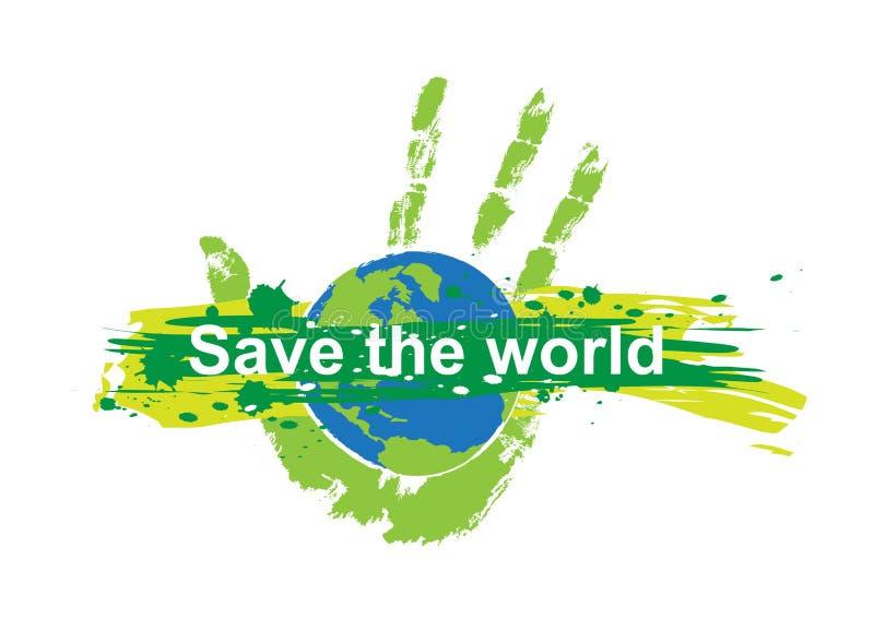 Save world concept royalty free illustration