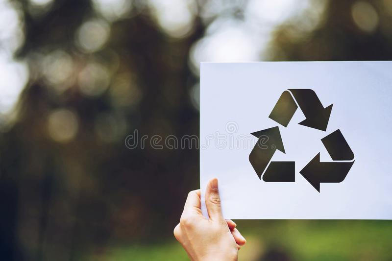 Save world ecology concept environmental conservation with hands holding cut out paper recycle showing. Nature, green, design, natural, background, creative stock photos