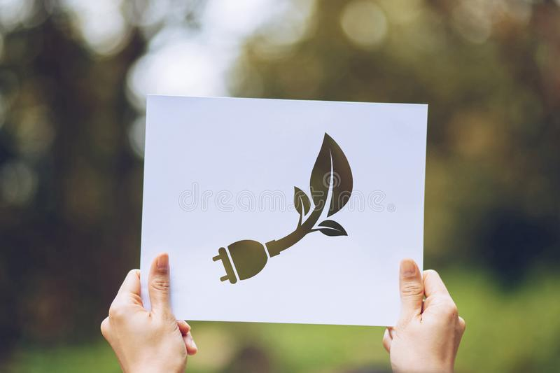 Save world ecology concept environmental conservation with hands holding cut out paper showing. Nature, green, design, natural, background, creative, art royalty free stock photos