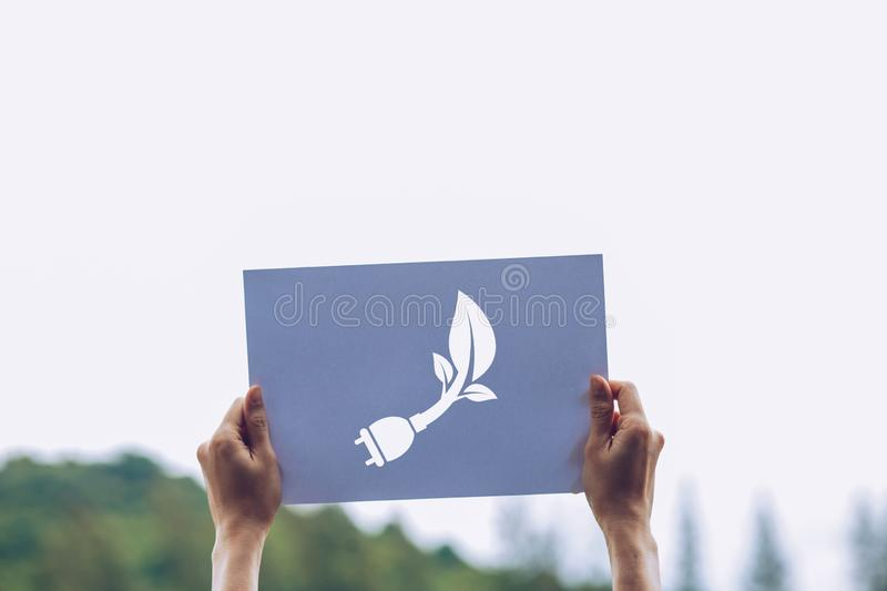 Save world ecology concept environmental conservation with hands holding cut out paper showing. Nature, green, design, natural, background, creative, art stock images