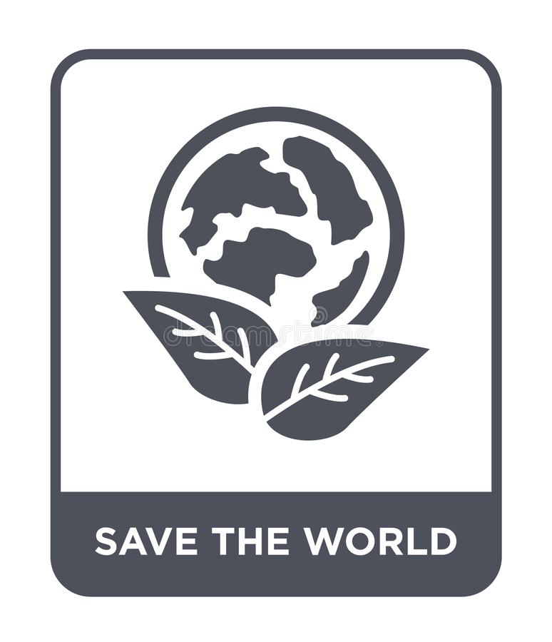 save the world icon in trendy design style. save the world icon isolated on white background. save the world vector icon simple royalty free illustration
