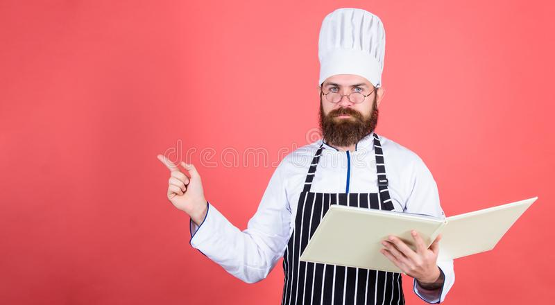 Save your time. Healthy food cooking. Vegetarian. Mature chef with beard. Dieting and organic food, vitamin. copy space. Save your time. Healthy food cooking stock image