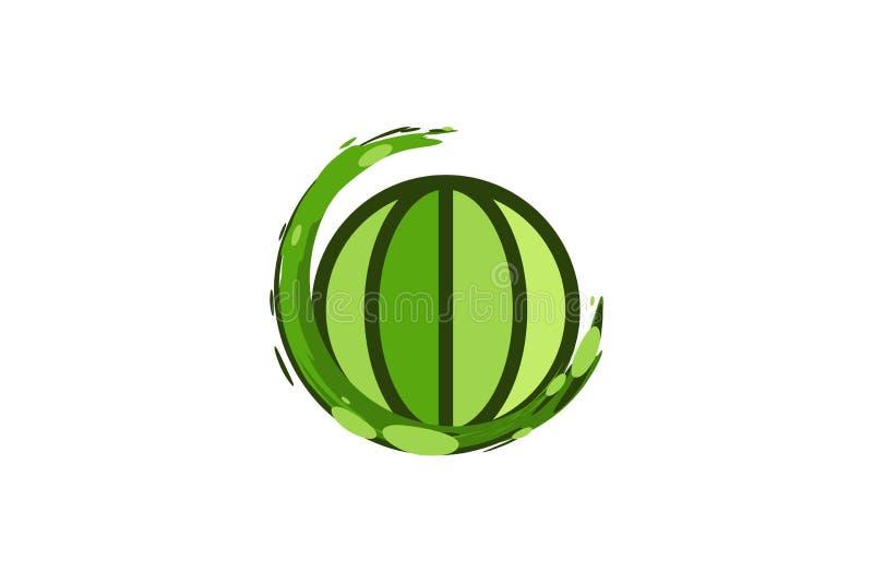 save ziemię, kula ziemska loga projektów inspiracja Odizolowywająca na Białym tle ilustracji