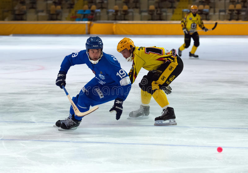 Saveliev Dmitry in action stock image