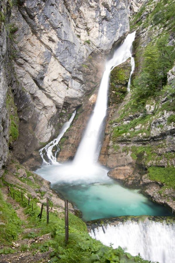 Savica waterfalls, Slovenia, Europe stock photo