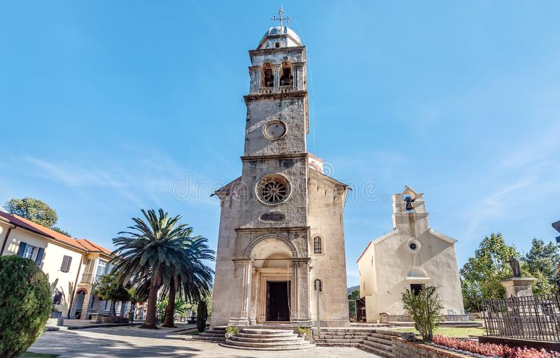 Savina Monastery um monastério ortodoxo em Herceg Novi, Montene foto de stock royalty free