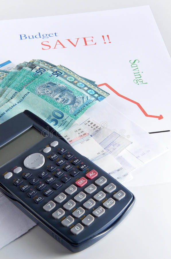 Download Saving stock image. Image of calculator, cash, banking - 22983885