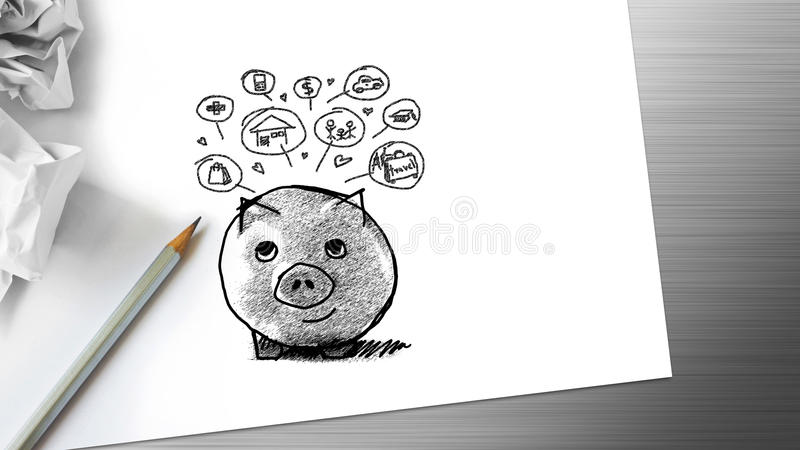 saving ilustração royalty free