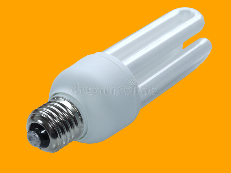 Saving bulb with clipping path stock images