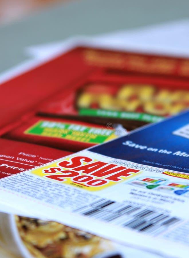 Saving coupons royalty free stock photography
