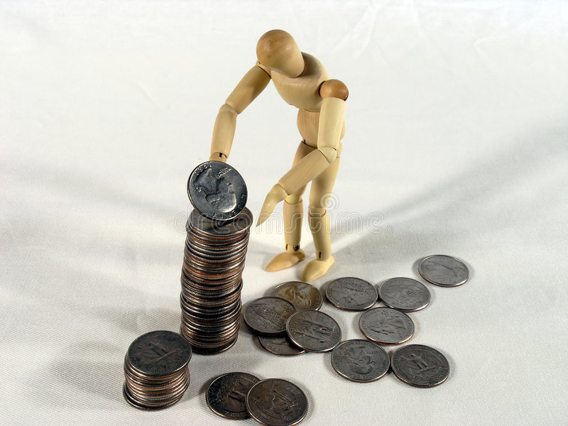 Download Saving For The Future stock photo. Image of quarter, concept - 41902