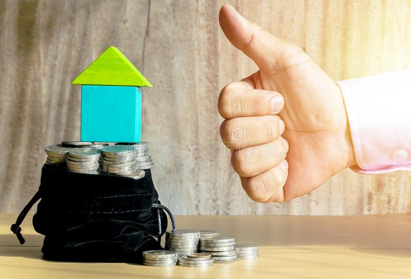 Saving for home royalty free stock image