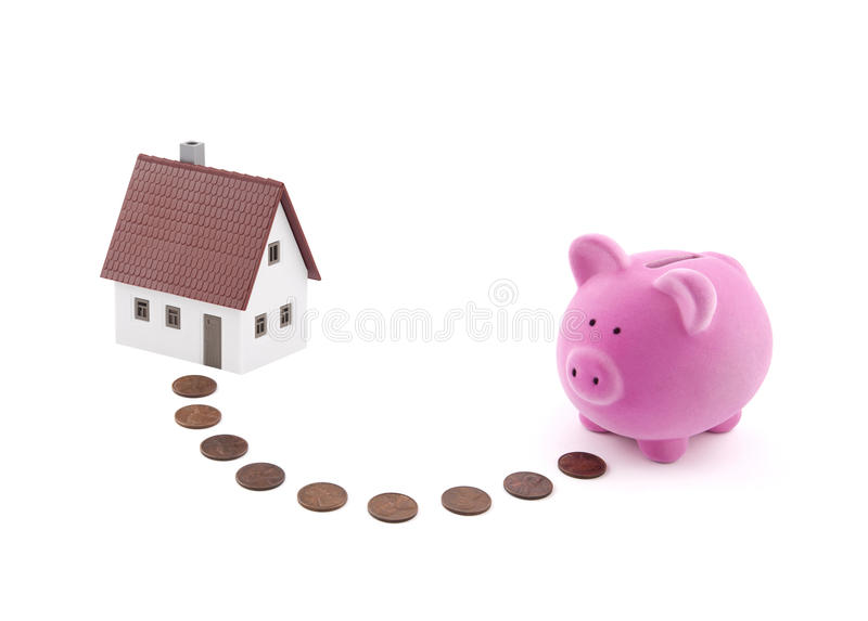 Saving for a house stock image
