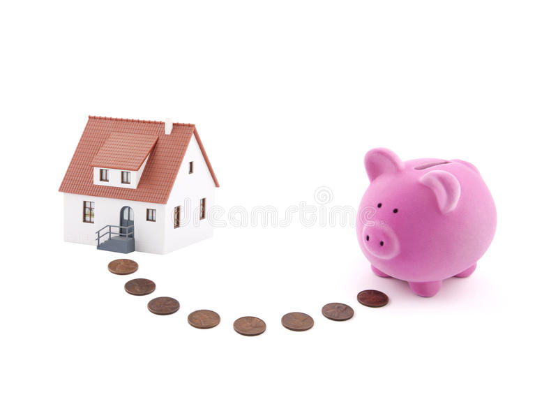 Saving for a house royalty free stock image