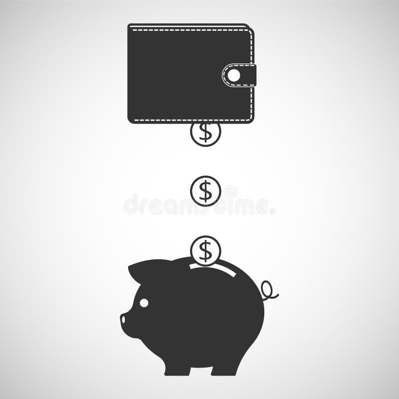 Saving icon. Isolated on white backgroundVector illustration. Eps 10 stock illustration
