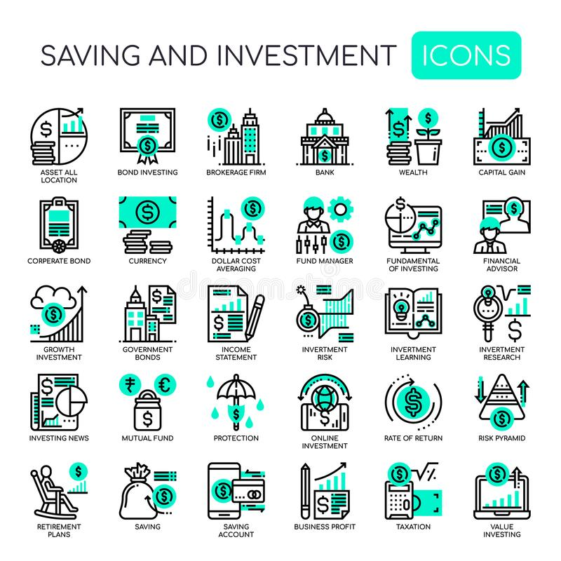 Saving and Investment , Pixel Perfect Icons vector illustration