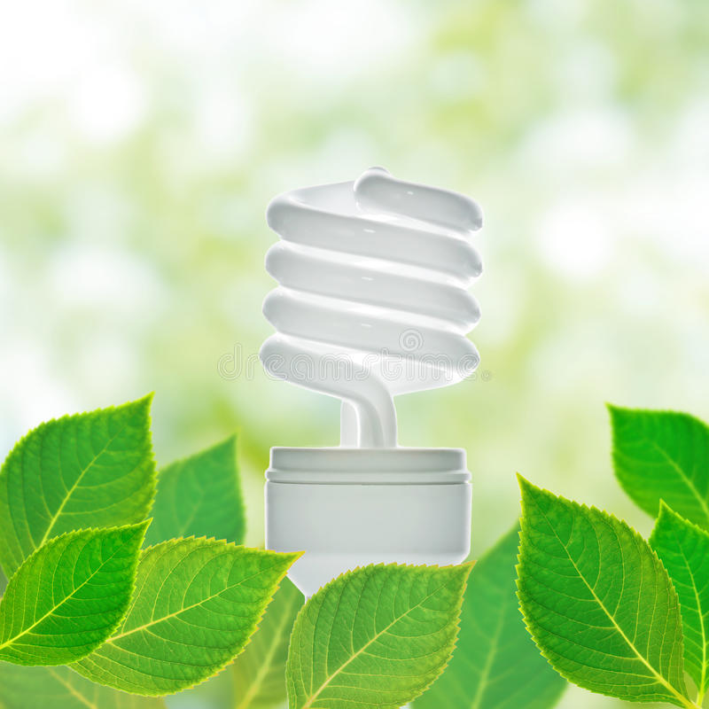 Saving lamp stock photo