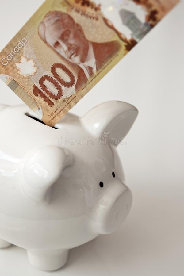 Saving Money Canada Currency Stock Photos