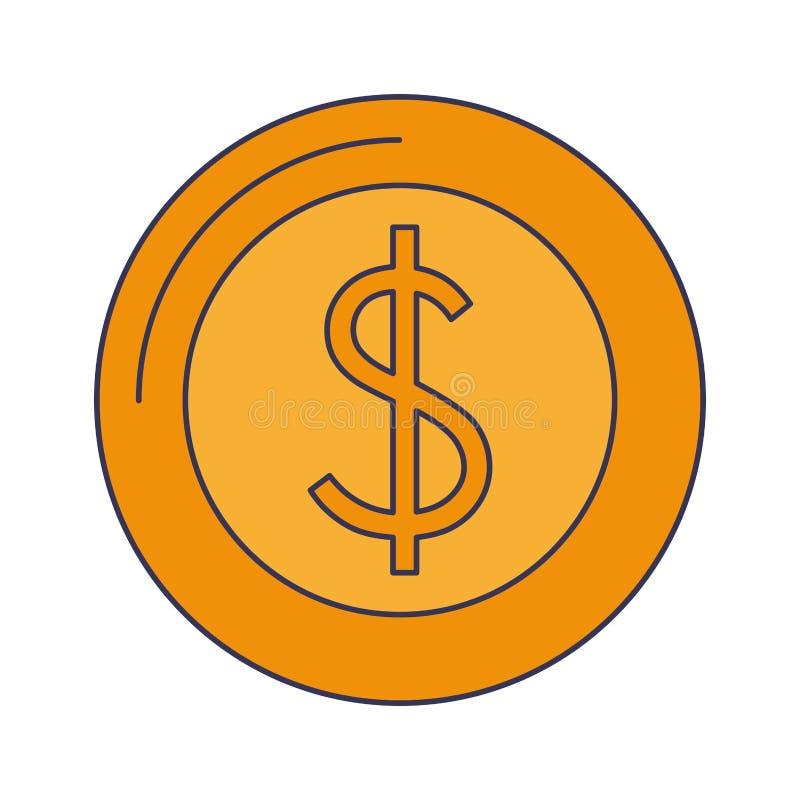 Saving money cash coin cartoon royalty free illustration