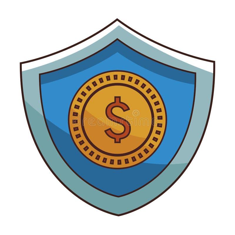 Saving money coin cartoon royalty free illustration