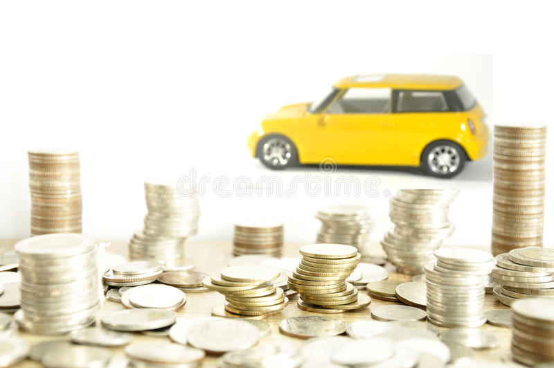 Saving money for a car. used for background or material design. stock image