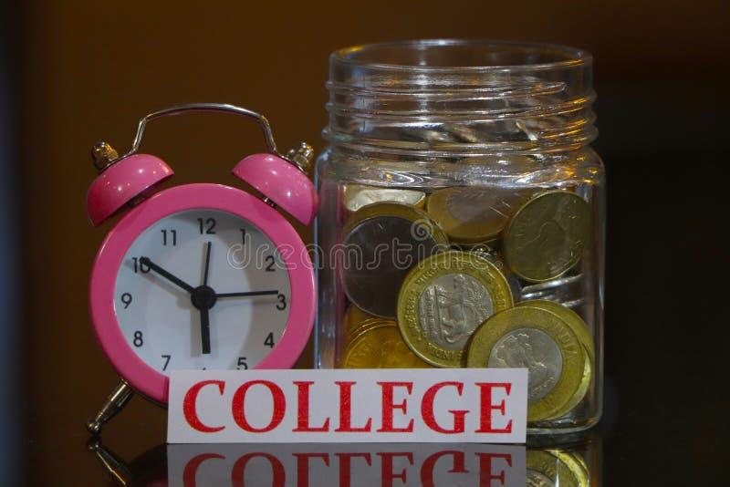 Saving money for college concept. stock photo