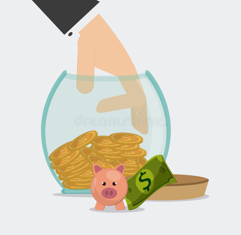 Saving money design. Save money concept with financial icon design, vector illustration 10 eps graphic royalty free illustration